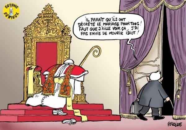 """Spécial """"LE PAPE BENOÎT XVI SOUPAPES DÉMISSIONNE"""" - Image n° 3/5 !..."""