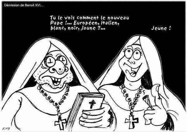 """Spécial """"LE PAPE BENOÎT XVI SOUPAPES DÉMISSIONNE"""" - Image n° 2/2 !..."""