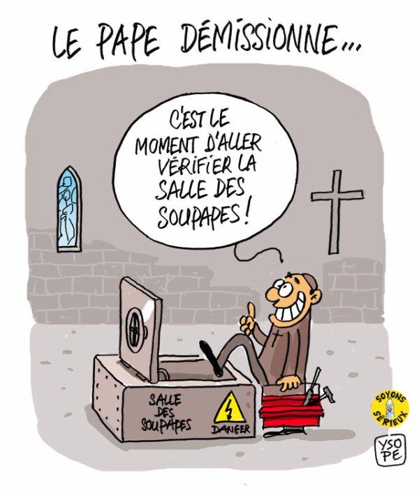 """Spécial """"LE PAPE BENOÎT XVI SOUPAPES DÉMISSIONNE"""" - Image n° 1/4 !..."""