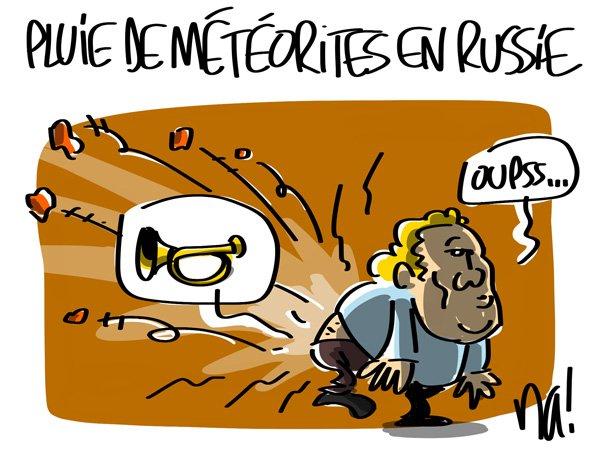 """Spécial """"Plus de 250 blessés après la chute de météorites en Russie"""" - Image n° 1/4 !..."""