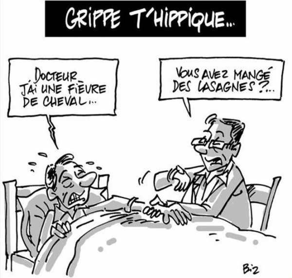 """Spécial """"UN FLORILÈGE DES PARODIES RELATIVES AU SCANDALE DE LA VIANDE DE CHEVAL DANS LES LASAGNES"""" - Image n° 6/8 !..."""