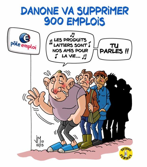 900 emplois supprimés par Danone sur deux ans en Europe !...