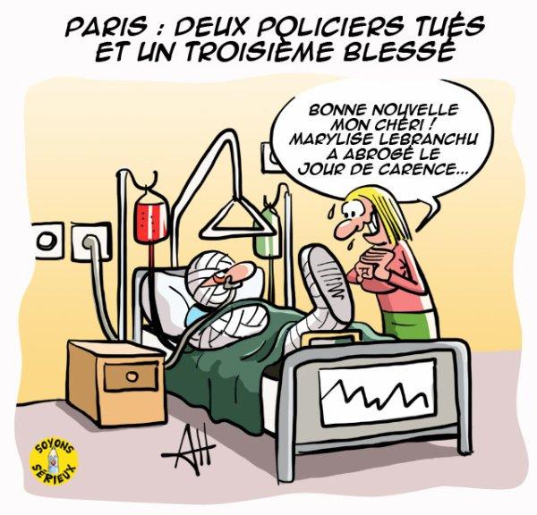 Paris : Deux policiers tués et un troisième blessé !...