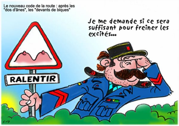 """Spécial """"LA VIE DE GENDARME"""" - Dessin N° 1/2 !..."""