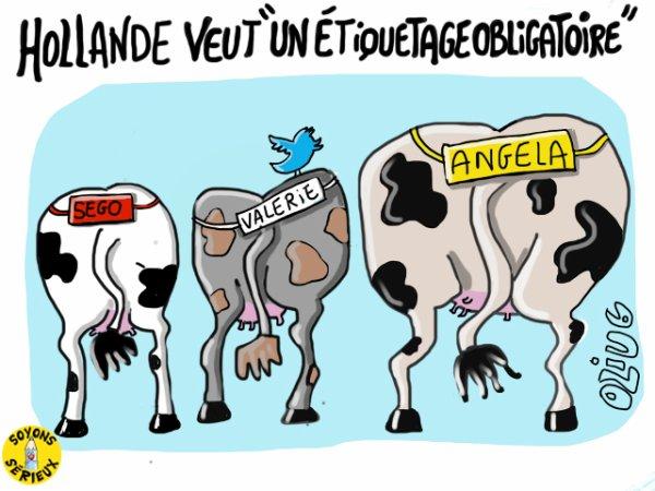 Hollande veut  « un étiquetage obligatoire » !...