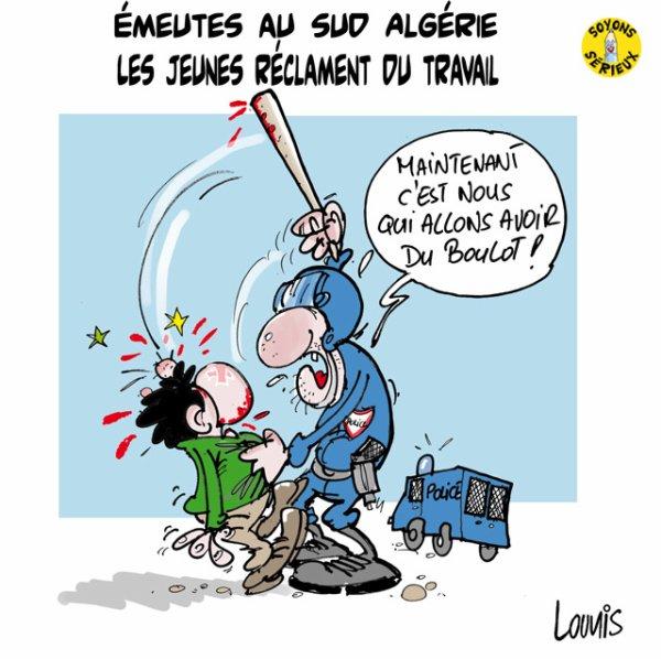 Les jeunes du sud d'Algérie réclament du travail !...