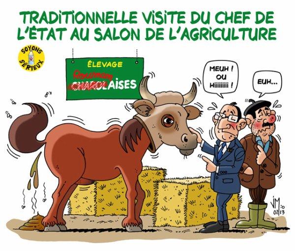 Première visite de Hollande au Salon de l'agriculture en tant que Président !...