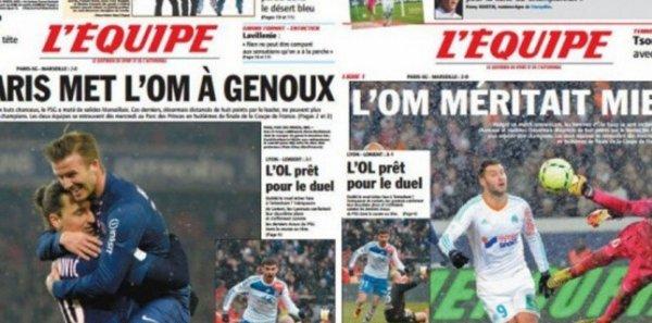 """Spécial """"Quand """"L'Equipe"""" se dédouble pour ménager ses lecteurs"""" - Image n° 1/2 !..."""