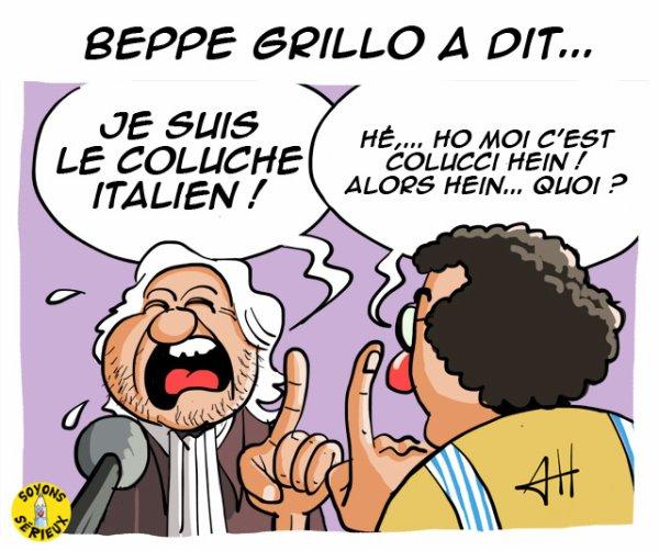 Beppe Grillo, le comique italien anti-système!...