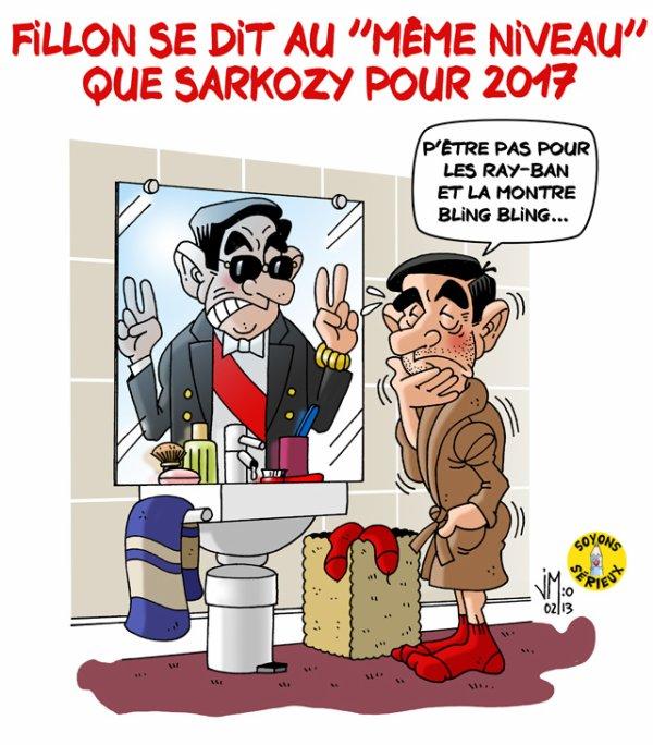 Fillon « au même niveau » que Sarkozy pour 2017 !...