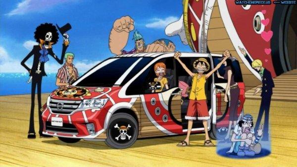 Les mugiwaras ont une voiture