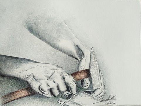 travail de mains