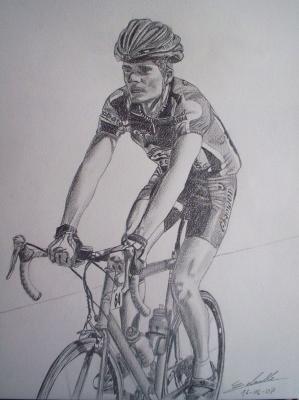 Cycliste portraits et dessins - Dessin cycliste ...
