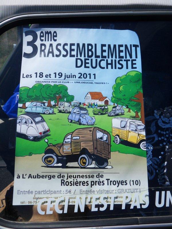 3 ème Rassemblement deuchistes à Rosière (Aube 10) le 19 Juin 2011