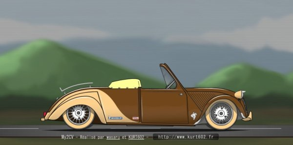 Une belle 2 CV Cabrio