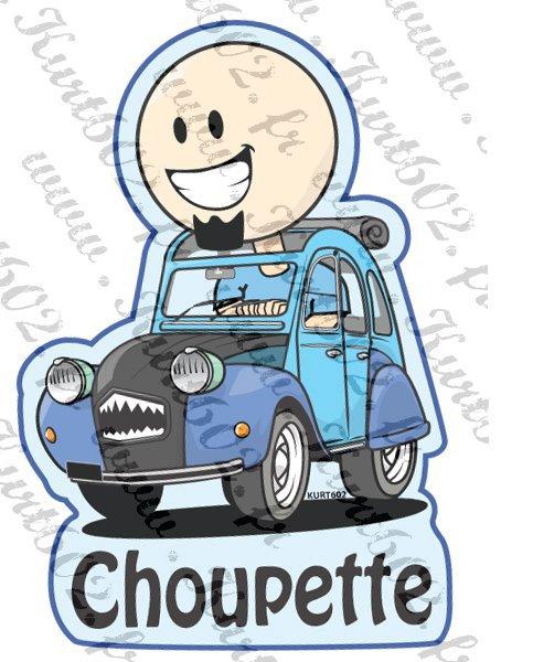Ma 2 CV Choupette vu par mon ami Kurt !