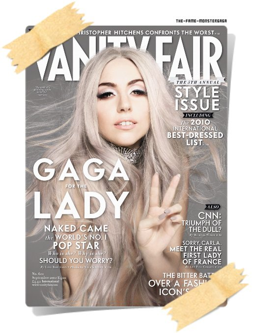 "иєω'ѕ gαgα ! ♥ - Lady GaGa en couverture du magazine ""Vanity Fair"" !"