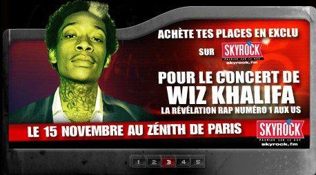 Gagnes tes places pour le 1er concert en France de Wiz Khalifa !