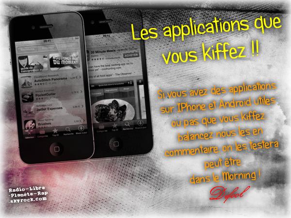 Les applications que vous kiffez !