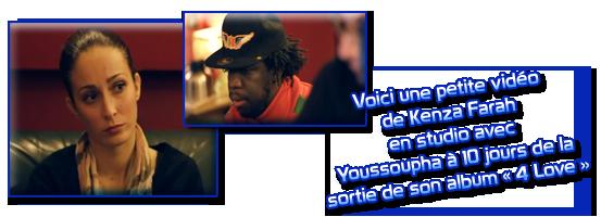 Kenza Farah en studio avec Youssoupha, la vidéo !