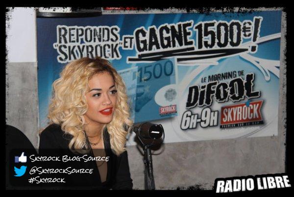 Rita Ora dans la Radio Libre !