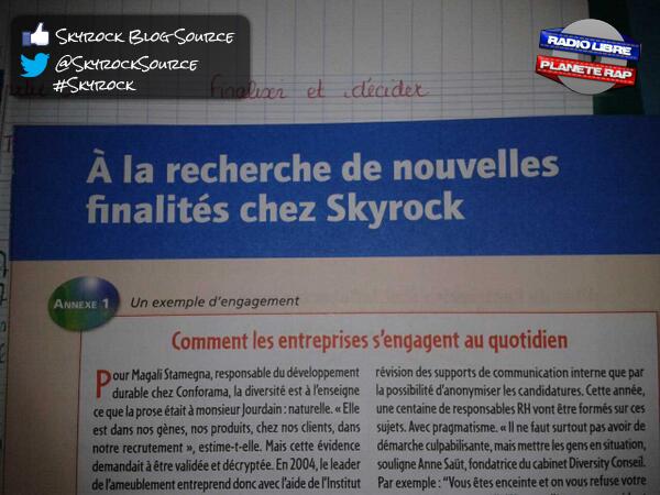 Skyrock en plein cours !