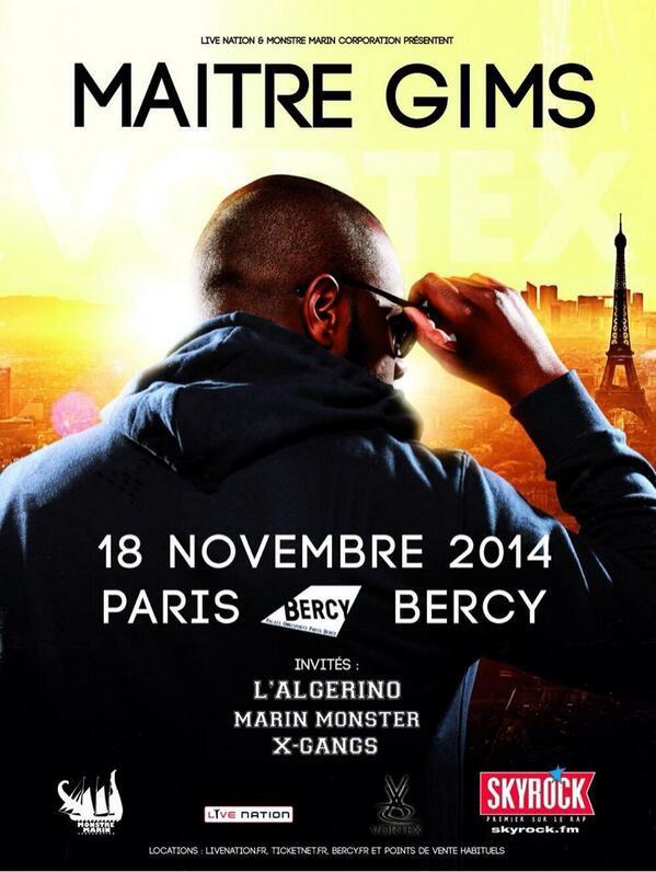 Maître Gims | Concert annoncé à Bercy !