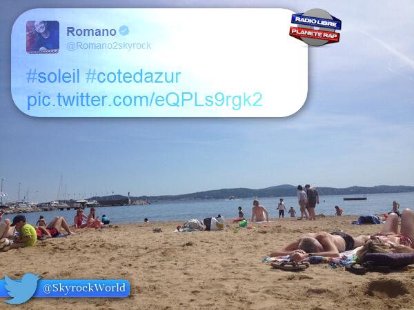 Romano | Petite photo de la plage où il est !