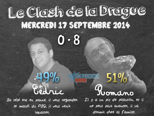 Radio Libre | Mercredi 17 septembre 2014 - Clash de la Drague