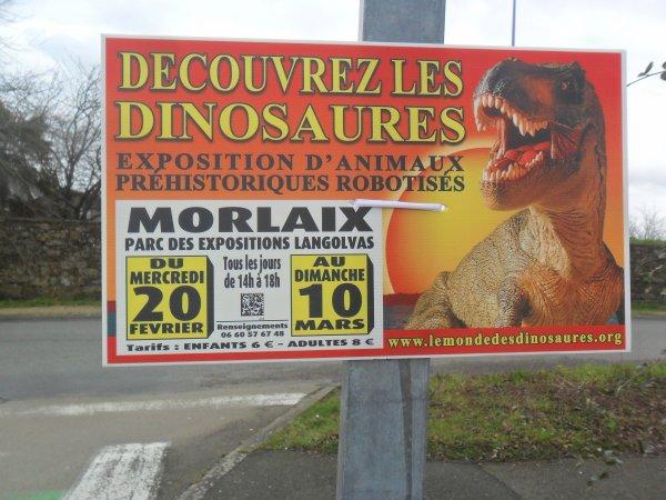 "Expo ""LE MONDE DES DINOSAURES""  à Morlaix"