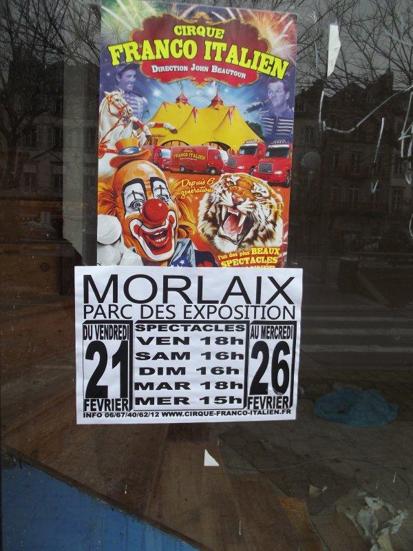 Le cirque Franco Italien à Morlaix (29) - 2014