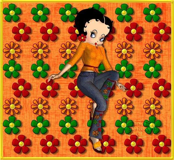 betty boop aime les fleurs