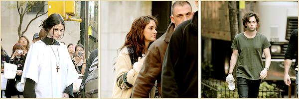 10•11•2011  ~ Blake était sur le set de GossipGirl accompagnée de sa Co-Star  Penn Badgley.  ~    Top / Flop tenue(s) : TOP !