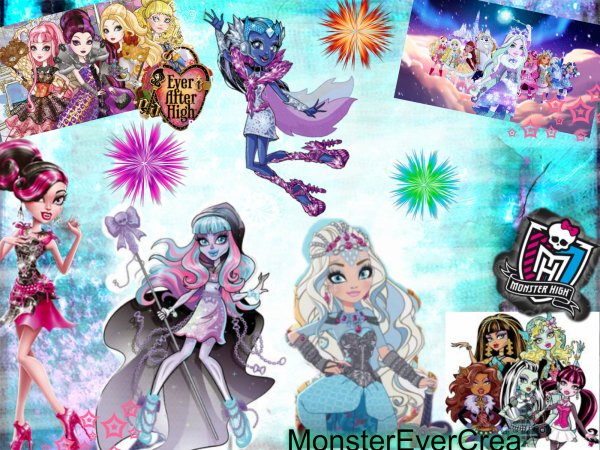 création Ever After High et Monster High