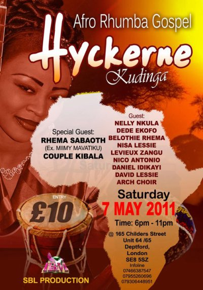 A day not to be missed! Come and celebrate JESUS CHRIST with Hyckerne Kudinga