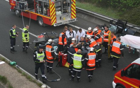 Autoroute A 16 bloquée à Saint-Folquin