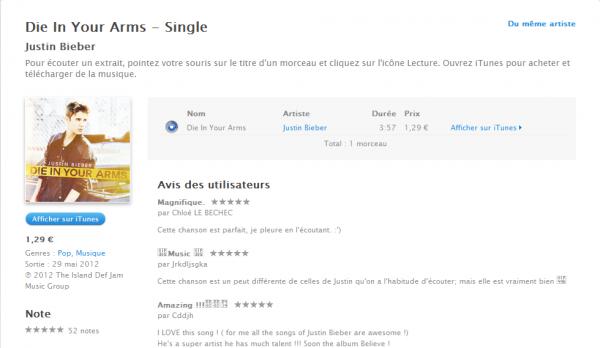 Justin à Paris + Die in your arms + Photos