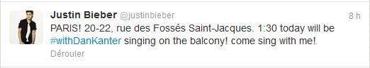 Spécial Justin à Paris !
