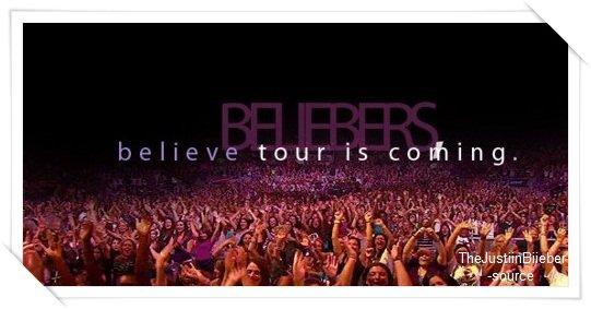 Dates du BELIEVE TOUR !
