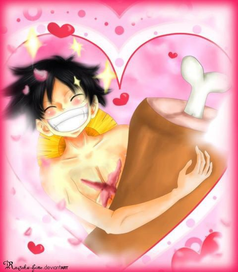 Luffy va se marier avec la viande