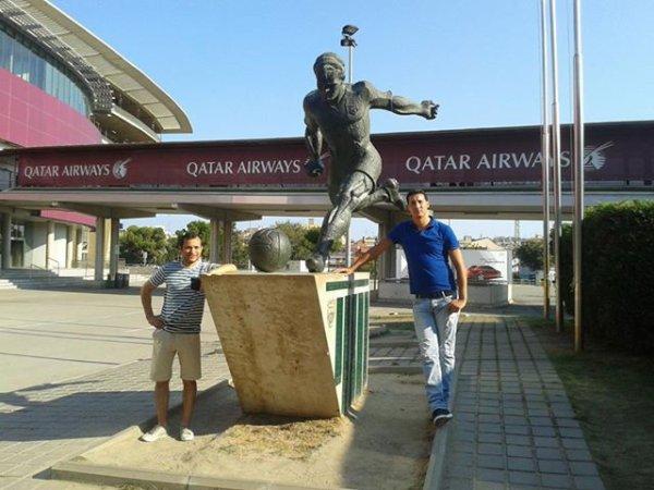 moi et moussa a Stade du Camp Nou F.C. Barcelone