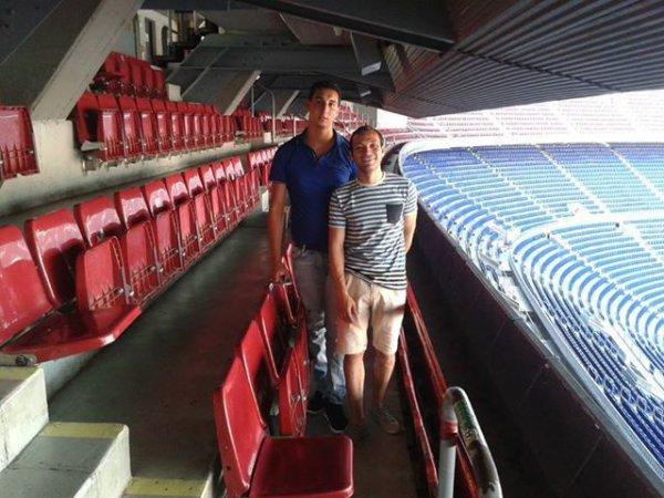 moi et moussa dans Stade du Camp Nou F.C. Barcelone