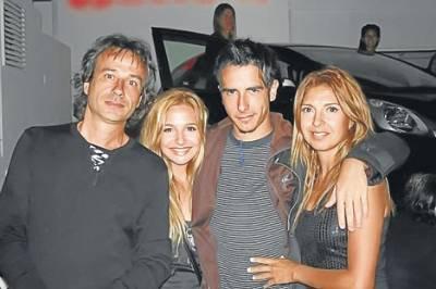 Brenda Asnicar avec son père et son frère