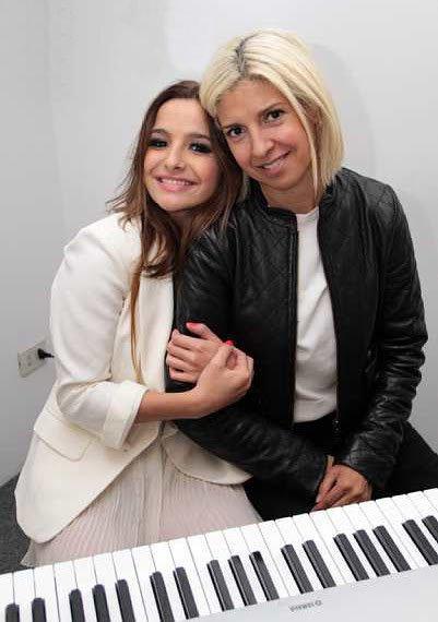 Brenda Asnicar avec sa maman Adriana