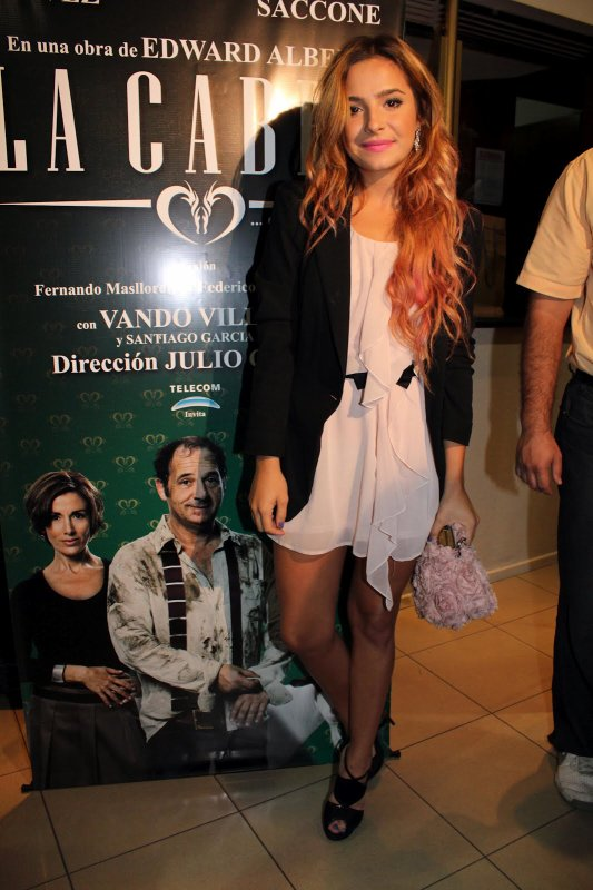 Brenda Asnicar à la première du film 'La cabra' Buenos Aires 2012