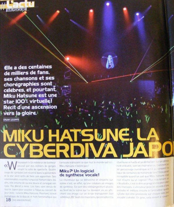Un article sur les voca dans SVJ : présentaion d' Hastune Miku