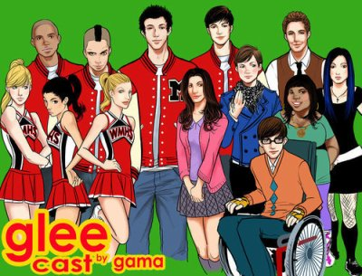 Lees personnage de Glee en dessin (L)