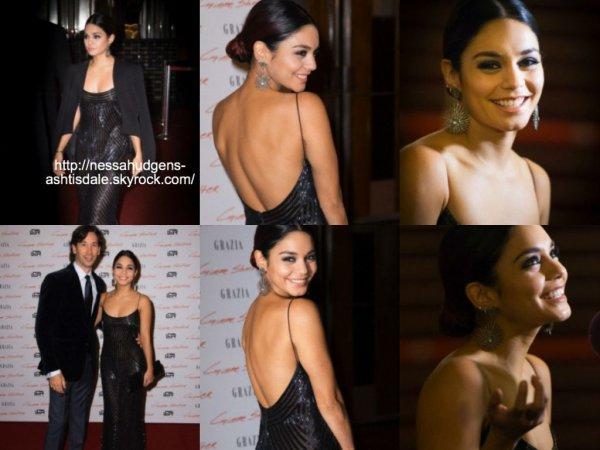 26 octobre 2014 : Vanessa a été vue alors qu'elle arrivait à la première de son film Gimme Shelter à Paris