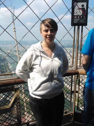 au sommet de la tour effel