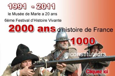 A venir : Marle 2011. Spécial 20°anniversaire : 2000 ans d'histoire.